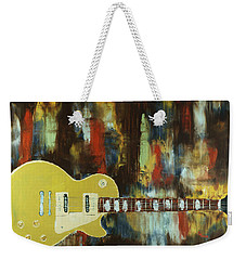 Gold Top Abstract Weekender Tote Bag