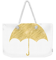 Gold Umbrella- Art By Linda Woods Weekender Tote Bag by Linda Woods