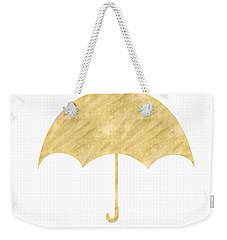 Gold Umbrella- Art By Linda Woods Weekender Tote Bag