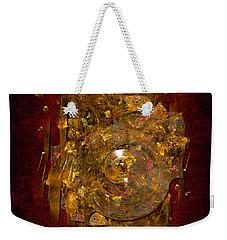 Golden Abstract Weekender Tote Bag
