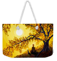 Golden Afternoon Meditation Weekender Tote Bag by Laura Iverson
