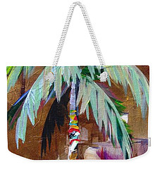 Golden Amethyst Palm Weekender Tote Bag