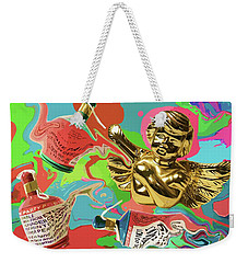 Golden Angel With Party Poppers Weekender Tote Bag