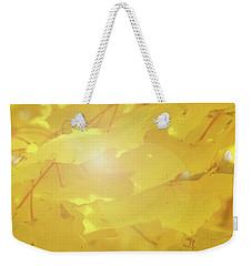 Golden Autumn Leaves Weekender Tote Bag