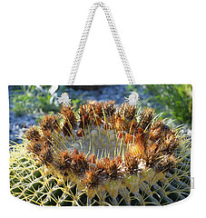 Weekender Tote Bag featuring the photograph Golden Barrel Cactus by Glenn McCarthy Art and Photography