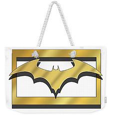 Golden Bat Weekender Tote Bag
