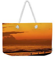 Golden Beach Sunset Weekender Tote Bag