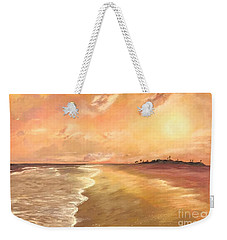 Golden Beach Weekender Tote Bag