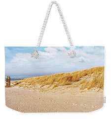 Golden Beach Walk Weekender Tote Bag by Kathi Mirto