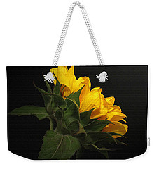 Weekender Tote Bag featuring the photograph Golden Beauty by Judy Vincent