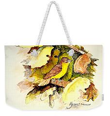 Golden-bellied Flyeater Weekender Tote Bag