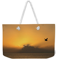 Golden Bird Sunrise Delray Beach Florida Weekender Tote Bag