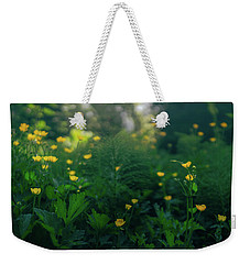 Weekender Tote Bag featuring the photograph Golden Blooms by Gene Garnace