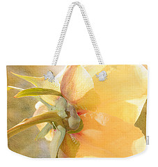 Golden Bowl Tree Peony Bloom - Back Weekender Tote Bag