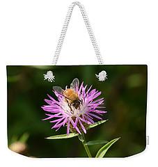 Golden Boy-bee At Work Weekender Tote Bag by David Porteus