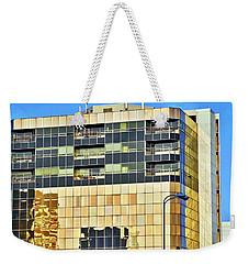Golden Building In Anchorage Weekender Tote Bag