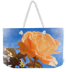 Weekender Tote Bag featuring the photograph Golden Bunny by Elaine Teague
