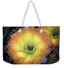 Golden Cactus Bloom Weekender Tote Bag
