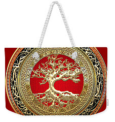 Golden Celtic Tree Of Life  Weekender Tote Bag