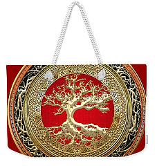 Golden Celtic Tree Of Life  Weekender Tote Bag
