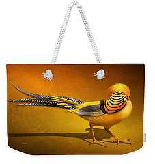 Golden Chinese Pheasant Weekender Tote Bag