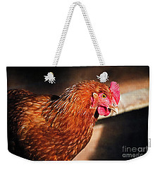 Weekender Tote Bag featuring the photograph Golden Comet by Mary Machare