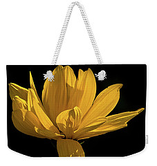 Weekender Tote Bag featuring the photograph Golden Coreopsis by Jacqi Elmslie