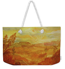 Golden Dawn Weekender Tote Bag by Ellen Levinson