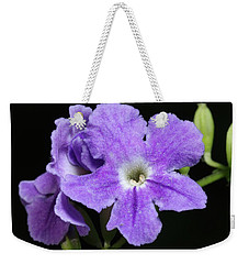Weekender Tote Bag featuring the photograph Golden Dewdrop II by Richard Rizzo