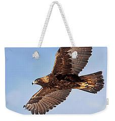 Golden Eagle Flight Weekender Tote Bag