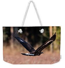 Golden Eagle Flying Weekender Tote Bag by Torbjorn Swenelius