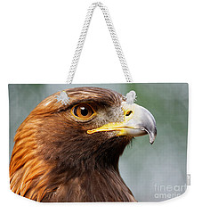 Golden Eagle Intensity Weekender Tote Bag