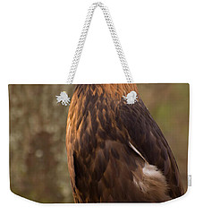 Weekender Tote Bag featuring the photograph Golden Eagle Resting On A Branch by Chris Flees