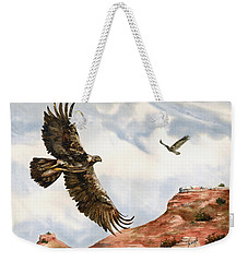 Golden Eagles In Fligh Weekender Tote Bag