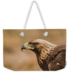 Golden Eagle's Portrait Weekender Tote Bag by Torbjorn Swenelius