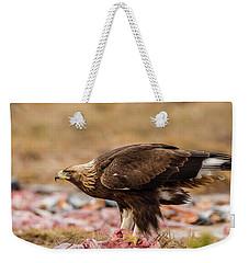 Golden Eagle's Profile Weekender Tote Bag by Torbjorn Swenelius