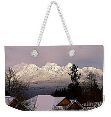 Weekender Tote Bag featuring the photograph Golden Ears Mountain View by Sharon Talson