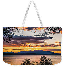 Golden Equinox Weekender Tote Bag