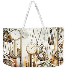 Golden Faces Of Time Weekender Tote Bag