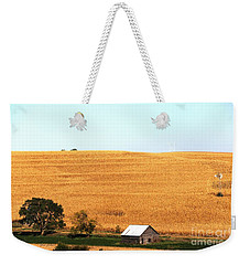 Weekender Tote Bag featuring the photograph Golden Field  by Yumi Johnson