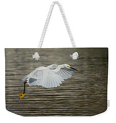 Weekender Tote Bag featuring the photograph Golden Flight by Fraida Gutovich
