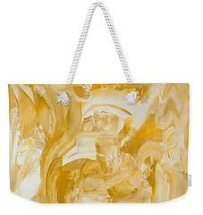 Weekender Tote Bag featuring the painting Golden Flow by Irene Hurdle