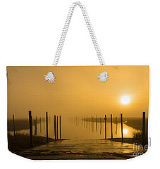 Golden Fog On The Nissequogue Weekender Tote Bag