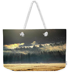 Weekender Tote Bag featuring the photograph Golden Fog by Shane Bechler