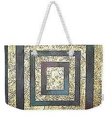 Weekender Tote Bag featuring the painting Golden Fortress by Bernard Goodman