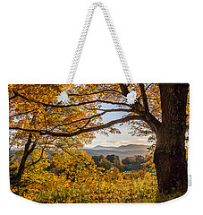 Vermont Framed In Gold Weekender Tote Bag