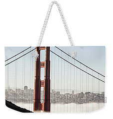 Weekender Tote Bag featuring the photograph Golden Gate And Marin Highlands by David Bearden