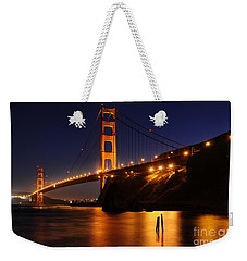 Weekender Tote Bag featuring the photograph Golden Gate Bridge 1 by Vivian Christopher