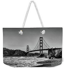 Golden Gate Bridge Black And White Weekender Tote Bag