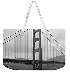 Golden Gate Bridge- Black And White Photography By Linda Woods Weekender Tote Bag